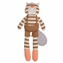 Apple Park Organic Farm Buddies Plush Buster Beaver