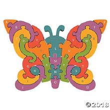 Begin Again Butterfly A-Z Puzzle