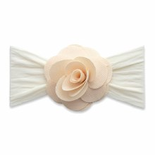 Baby Bling Honeycomb Flower Headband Ivory