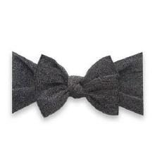 Baby Bling Shimmer Knot Headband Black