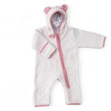 Baby Deedee Furry Bear Bunting Pink