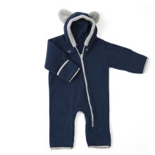 Baby Deedee Fleece Bear Bunting Navy