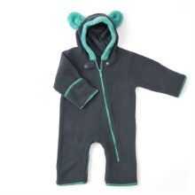 Baby Deedee Fleece Bear Bunting Teal