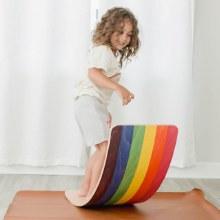 Bunny Hopkins Rainbow Wobble Board CURBSIDE ONLY