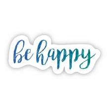 "Big Moods Sticker ""Be Happy"" Blue/Green"