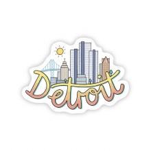 "Big Moods Sticker ""Detroit"" Skyline"