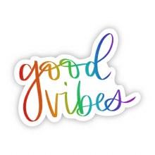 "Big Moods Sticker ""Good Vibes"" Rainbow"
