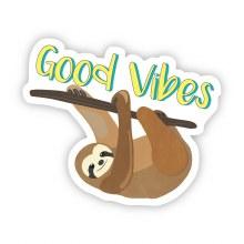 "Big Moods Sticker ""Good Vibes"" Sloth"