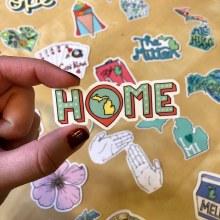 "Big Moods Sticker ""Home"" Michigan"