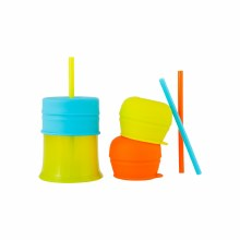 Boon Snug Straw 3 pack w/ Cup Pink/Blue/Purple