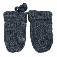 Calikids Knit Cotton Mitten- Charcoal Mix 0-9M