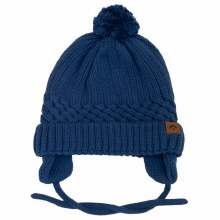 Calikids Cotton Knit Baby Hat Blue