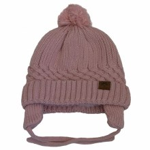 Calikids Cotton Knit Baby Hat Pink