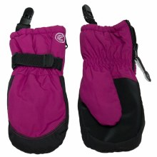 Calikids Mittens with Clips Fuchsia 12-24M