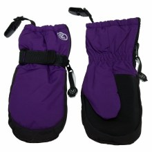 Calikids Mittens with Clips Imperial Purple 12-24M