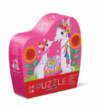 Crocodile Creek 12 pc Mini Puzzle Llama Love