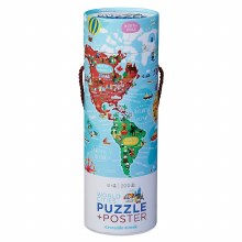 200 Piece Puzzle and Poster- World Cities