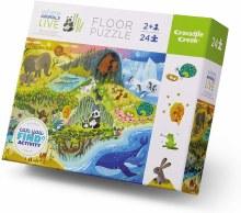 Crocodile Creek 24 Piece Floor Puzzle Where Animals Live