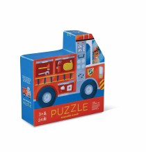 Crocodile Creek 24 Piece Two-Sided Puzzle Fire Engine #5