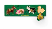 Crocodile Creek 4-Piece Wooden Knob Puzzle Barnyard