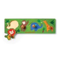 Crocodile Creek 4-Piece Wooden Knob Puzzle Jungle