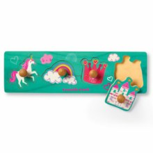 Crocodile Creek 4-Piece Wooden Knob Puzzle Princess