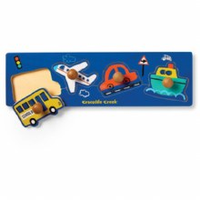 Crocodile Creek 4-Piece Wooden Knob Puzzle Vehicles