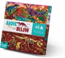 Crocodile Creek Above & Below Floor Puzzle Dinosaur World