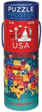 200 Piece USA Puzzle and Poster