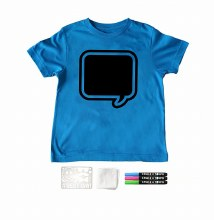 Chalk of the Town Chalkboard Shirt Kit Brilliant Blue