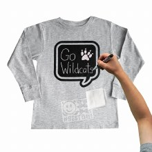 Chalk of the Town Chalkboard Shirt Kit Grey