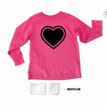 Chalk of the Town Chalkboard Shirt Kit Hot Pink