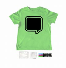 Chalk of the Town Chalkboard Shirt Kit Lime