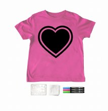Chalk of the Town Chalkboard Shirt Kit Raspberry