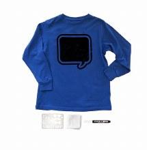 Chalk of the Town Chalkboard Shirt Kit Royal Blue