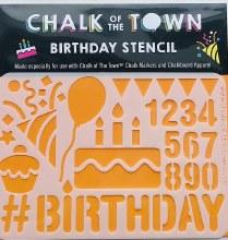 Chalk of the Town Birthday Stencil