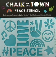 Chalk of the Town Peace Stencil