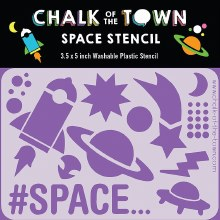 Chalk of the Town Space Stencil