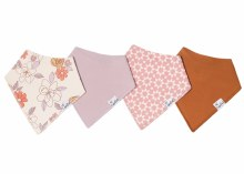 Copper Pearl Bandana Bib Sets