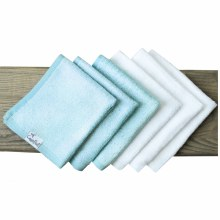 Copper Pearl Bamboo Wash Cloths - White/Blue