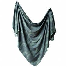 Copper Pearl Knit Swaddle Blanket- Hunter