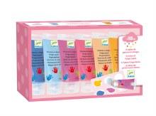 Djeco Fingerpaint- 6 Tubes Sweet Colors