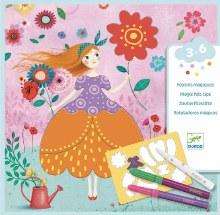 Djeco Magic Felt Tips- Marie's Pretty Dress