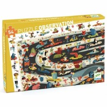 Djeco Observation Puzzle Automobile Rally