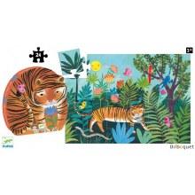 Djeco 24-Piece Puzzle The Tiger's Walk
