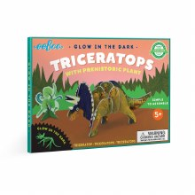 3D Triceratops with Prehistoric Plant