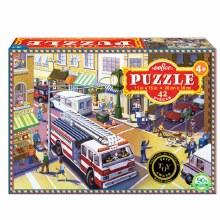 eeBoo 42 piece Puzzle Fire Truck