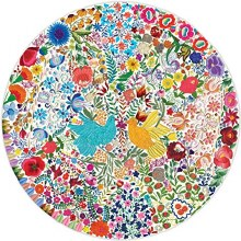 Blue Bird, Yellow Bird 500-Piece Round Puzzle