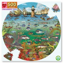 Fish and Boats 500 Round Puzzle