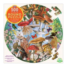 eeBoo Mushrooms and Butterflies 500 Piece Puzzle
